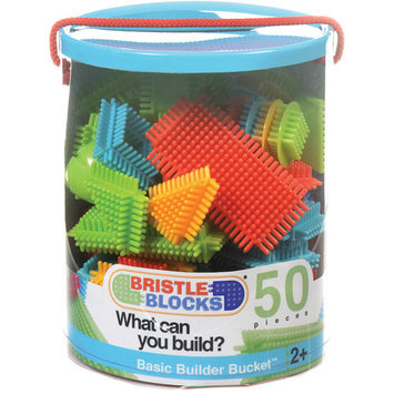 Battat Bristle Blocks Bucket 50-pieces 68068