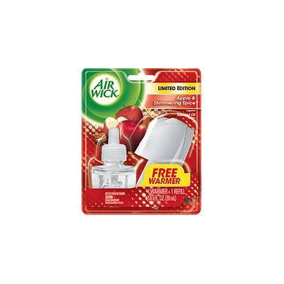 Air Wick Scented Oil Starter Kit - 1 + 1 Apple & Shimmering Spice .67 fl. oz. (Winter Lights)