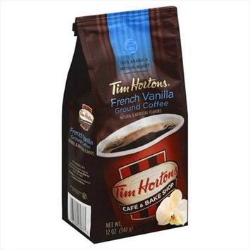 Tim Horton 12 oz. French Vanilla Medium Roast Ground Coffee Case Of 6