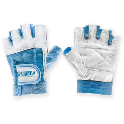 Grizzly Fitness Womens Blue Grizzly Paw Gloves, XS