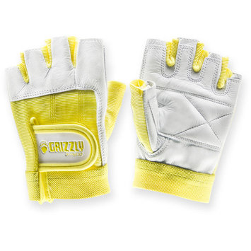 Grizzly Fitness Womens Yellow Grizzly Paw Gloves, XS