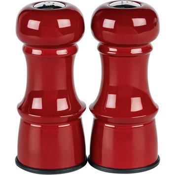 Trudeau Metal Salt & Pepper Shakers 4-1/2