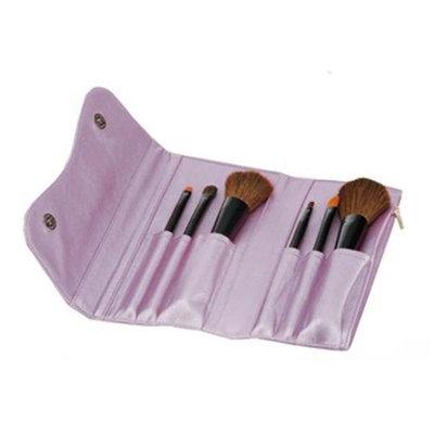 Danielle D146 6 PC Fold Tote Make-Up Brush Set - Purple