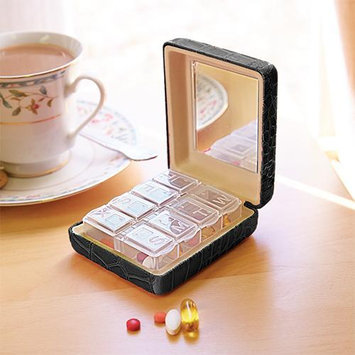 Upper Canada Soap Black Mirrored Croc Pill Box