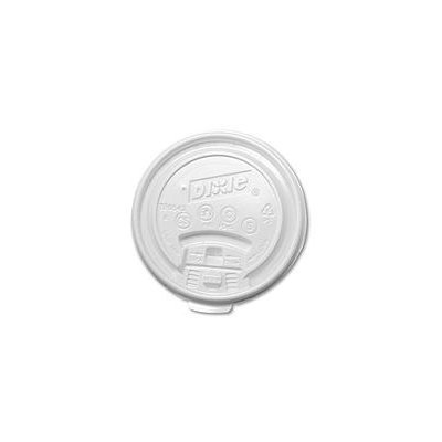 Dixie TB9542 Plastic Lids for Hot Drink Cups 12 & 16oz White 1000/Carton