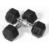 J/fit J Fit 20-6515-2 Rubber Dumbbells 15lb Pair