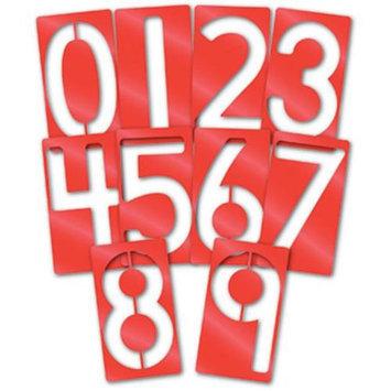 Roylco R58621 Roylco Big Number Stencils 10-pkg