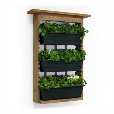 Algreen Products Algreen Garden View with 3 Planters