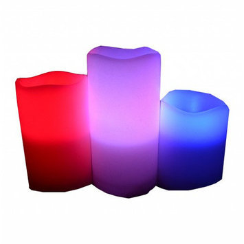Home And Power 3 Piece Color Changing Flameless Candle