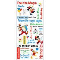 Disney Stickers/Borders Packaged-Mickey Phrase Sheet