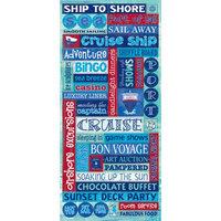 Sandylion Trends International 349207 Cruise Stickers Packaged-Glitter Word