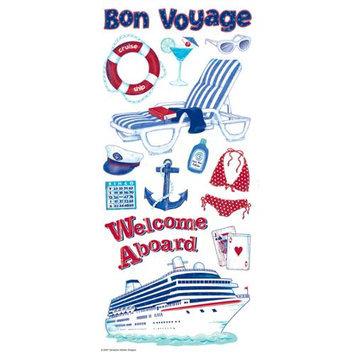 Sandylion Trends International 349206 Cruise Stickers Packaged-Glitter Icon