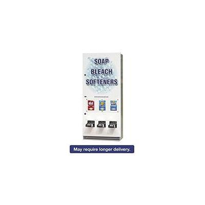 Vend-Rite Coin-Operated Soap Vender, 3-Column, Metal