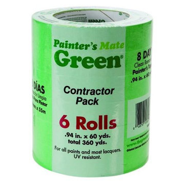 Painter's Mate 0.94 In x 60 Yard Green 6 Pack Painter's Tape (668840)