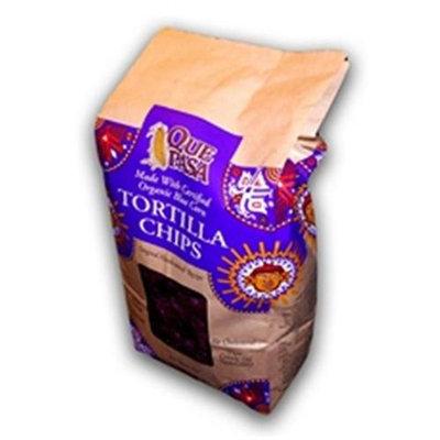 Que Pasa Organic Corn Blue Tortilla Chips1-Ounce Bags (10x10/21 Oz)