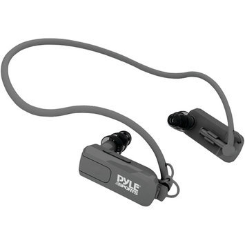 PYLE PSWP4BK 4GB waterproof neckband mp3 player & headphones, black