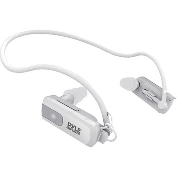 Pyle - 4GB Waterproof Neckband MP3 Player & Headphones (White)