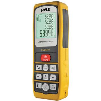 Pyle Audio Handheld Laser Distance Meter W/ Backlit LCD Display, Direct / Indirect, Volume, Area Measuring
