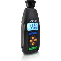 Pyle Audio Digital LED Non Contact Stroboscope Tachometer W/ Backlit LCD Display, 19,999 RPM Range