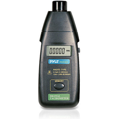 Pyle Audio Pyle Precision Non-Contact Laser Tachometer with Extended RPM Range