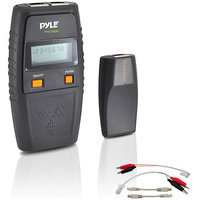 Pyle Audio Network Cable Tester W/ UTP, FTP, BNC Coaxial, Telephone Continuity, Short Circuit, Open Connection & Test Leads Included