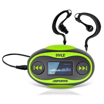 Pyle PSWP25 4GB Waterproof MP3 Player/FM Radio with Pedometer, Lap Counter, Stop Watch, LCD Display, Green