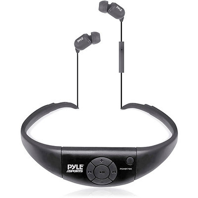 Pyle Audio Active Sport Waterproof Bluetooth Hands Free Wireless Stereo Headphones and Headset with Built in Microphone for Call Answering (Black)