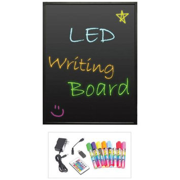 Pyle Audio Pyle Erasable Illuminated LED Writing Board w/ Remote Control and 8 Fluorescent Markers PLWB6080