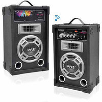 Pyle Audio Pyle PSUFM837BT Dual 800 Watt Disco Jam Powered 2-Way PA Bluetooth Speaker System