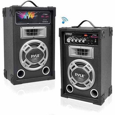 Pyle Audio Pyle PSUFM837BT Dual 800 Watt Disco Jam Powered 2-Way PA Bluetooth Speaker System
