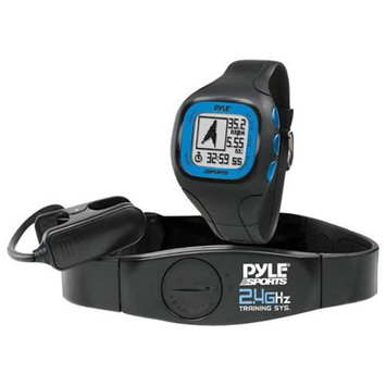 Pyle GPS Watch with Coded Heart Rate Transmission Blue PSWGP405BL