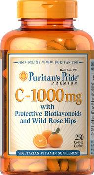 Puritan's Pride 2 Units of Vitamin C-1000 mg with Bioflavonoids & Rose Hips-250-Caplets