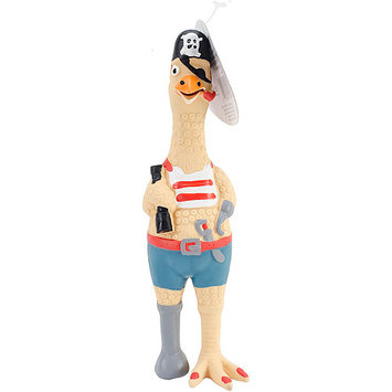 Westminster Pet 80528-1 Ruffin it Captain Jack Chicken 9.5in Latex Dog Toy
