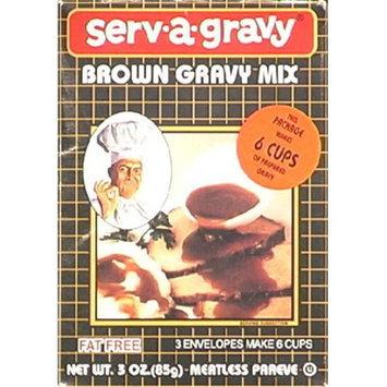 Serva Gravy Serv A Gravy Gravy Mix Brown 3-Ounce Boxes -Pack of 12