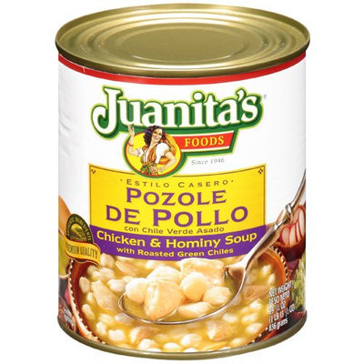 Juanita's Foods Juanitas Foods Chicken and Hominy Soup With Roasted Green Chiles, 29.5 oz, - Pack of 12