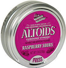 Altoids Curiously Strong Raspberry Sours