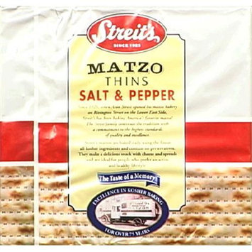 Streits Matzo Salt Pepper Thins, Pack of 12