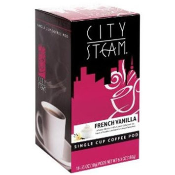City Steam 17612 French Vanilla Single Cup Coffee Pods