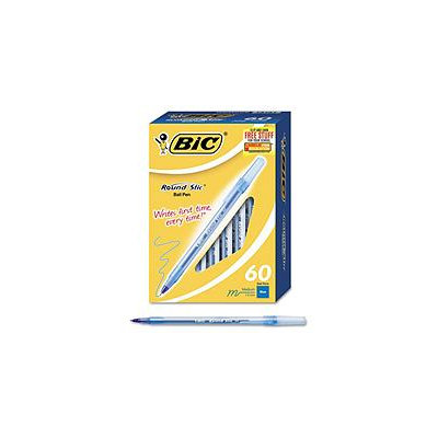 BIC Round Stic Medium Ballpoint Stick Pen, 60-Pk - Blue