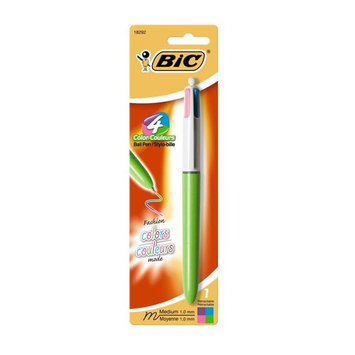 BIC CORPORATION 4 Color Medium Retractable Pen (Set of 12)