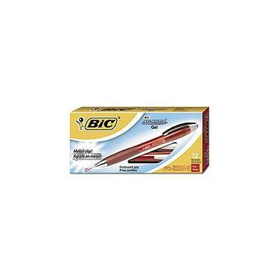 BIC Atlantis Retractable Gel Pen - Red - 0.7mm - 12 ct.