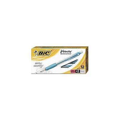 BICMV11BK Bic Velocity Mechanical Pencil, Hb #2, 0.9mm, Turquoise Barrel, Refillable