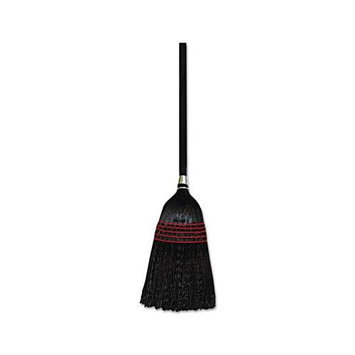 UNISAN UNS930BP Natural / Black Flag-Tip Janitor Push Brooms Poly