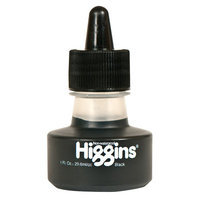 Higgins Non-Waterproof Black Ink 1 oz. bottle black