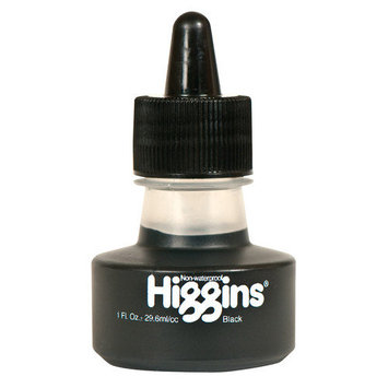 Higgins Non-Waterproof Black Ink 1 oz. bottle black