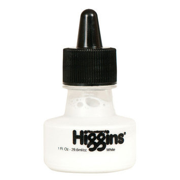 Higgins Dye-Based Drawing Inks, Super White