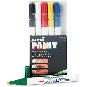 Sanford Brands 63720 Paint Marker Oil Base Fine Point Weather/Fadeproof 6/ST Ast