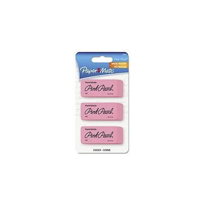 Paper-Mate Pink Pearl Medium Size Eraser, Three/Pk