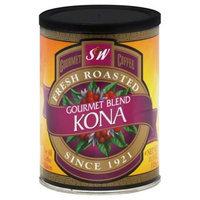 S & W S and W Gourmet Blend Kona Ground Coffee, 11.5 oz, - Pack of 6
