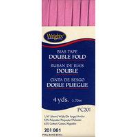 Double Fold Bias Tape 1/4 4 Yards-Pink